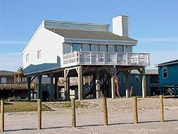 Single Family Beach Front Home on West End of Galveston Island (SF/BF)